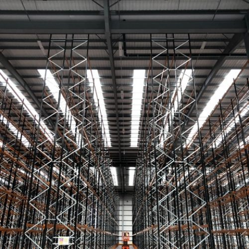 High Level Lighting busabr trunking install